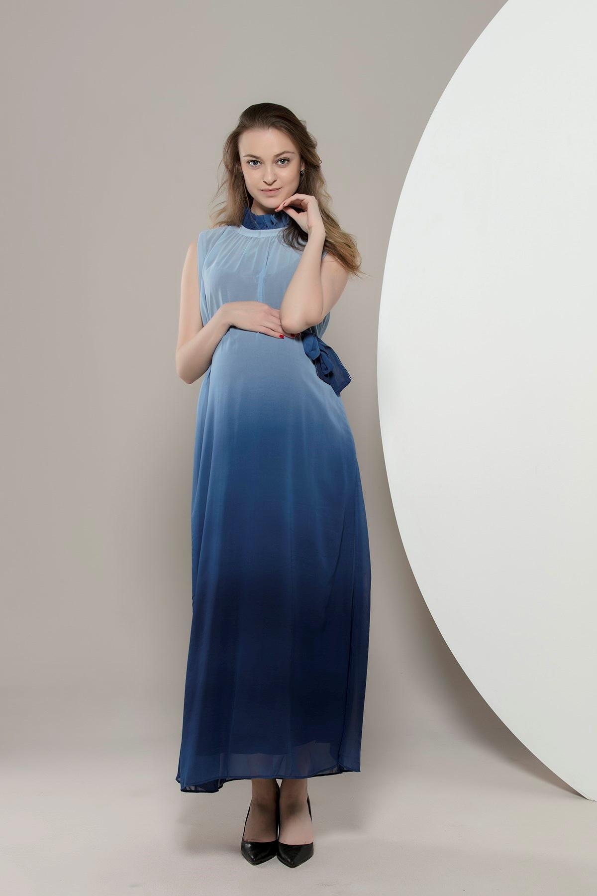 0663129761d65 Patırtı Gör&Sin Babyshower Hamile Şifon Elbise Lacivert - Glami.com.tr