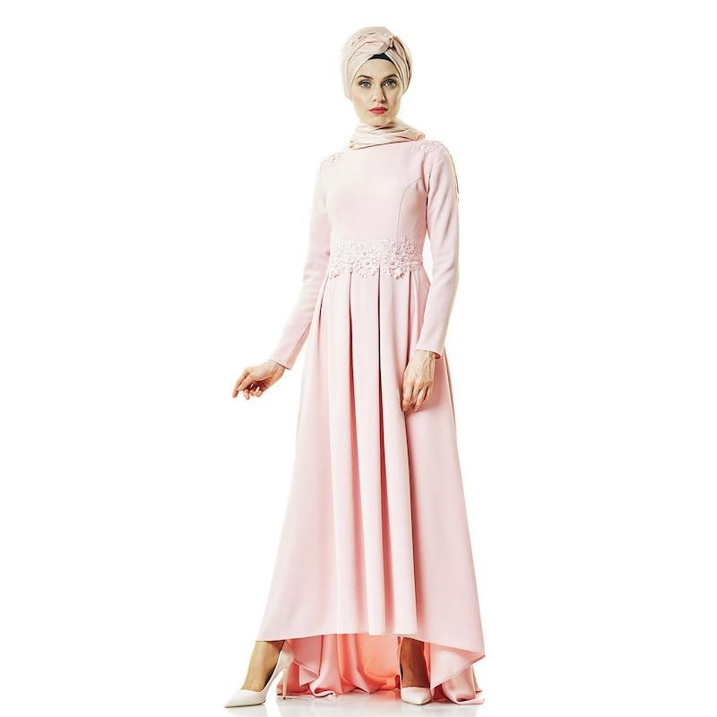 a7f12b28cbf68 Fashion Night Abiye Elbise-Pudra 2188-41 - Glami.com.tr