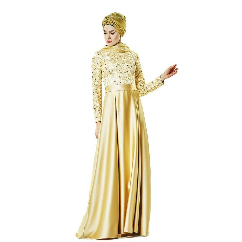 2532271936b13 Fashion Night Abiye Elbise-Gold 2145-93 - Glami.com.tr