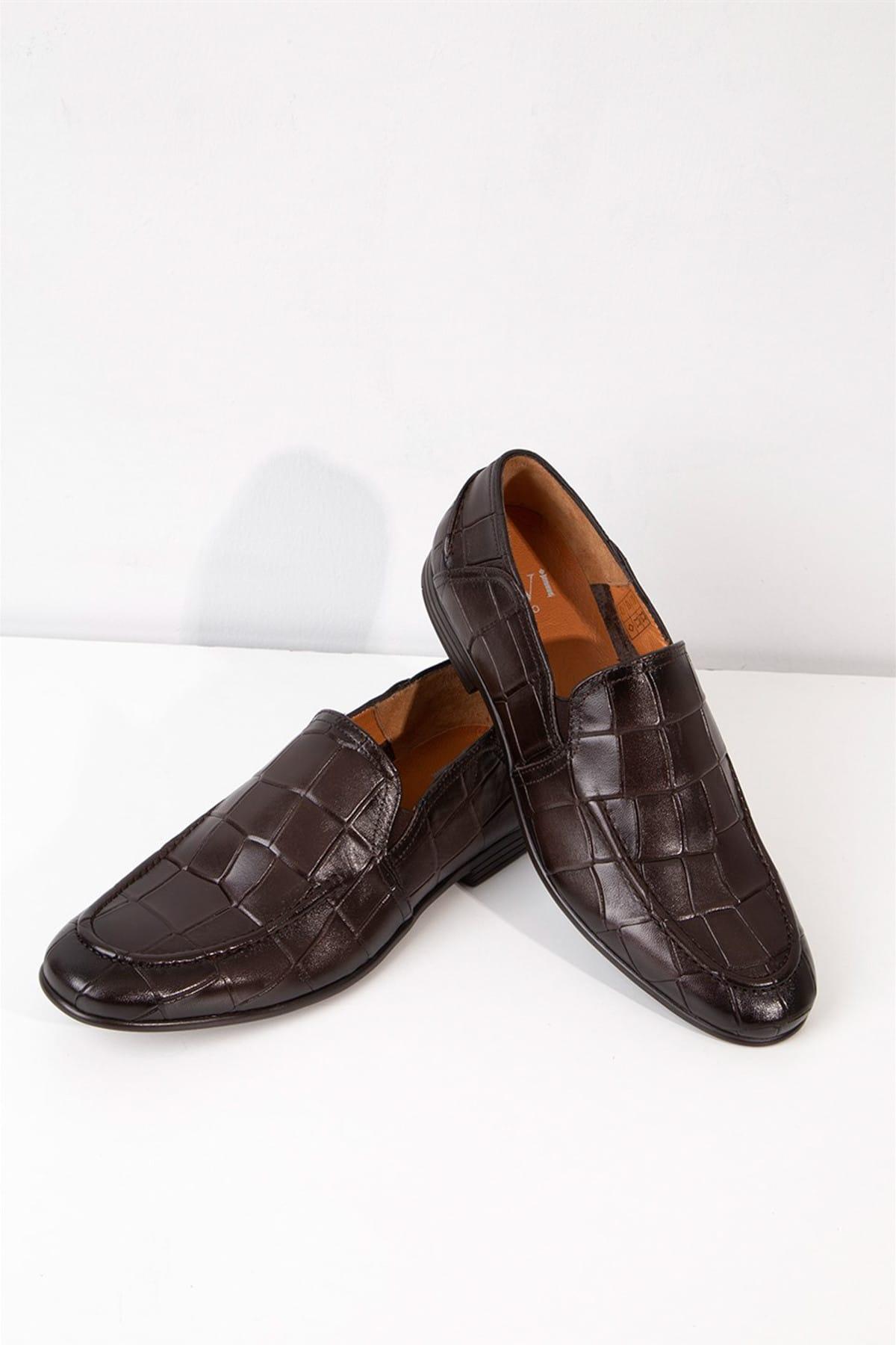 b6c947124466f İLVİ Erkek Rudolf Klasik Ayakkabı Kahve Kroko Rudolf-19204.165 ...