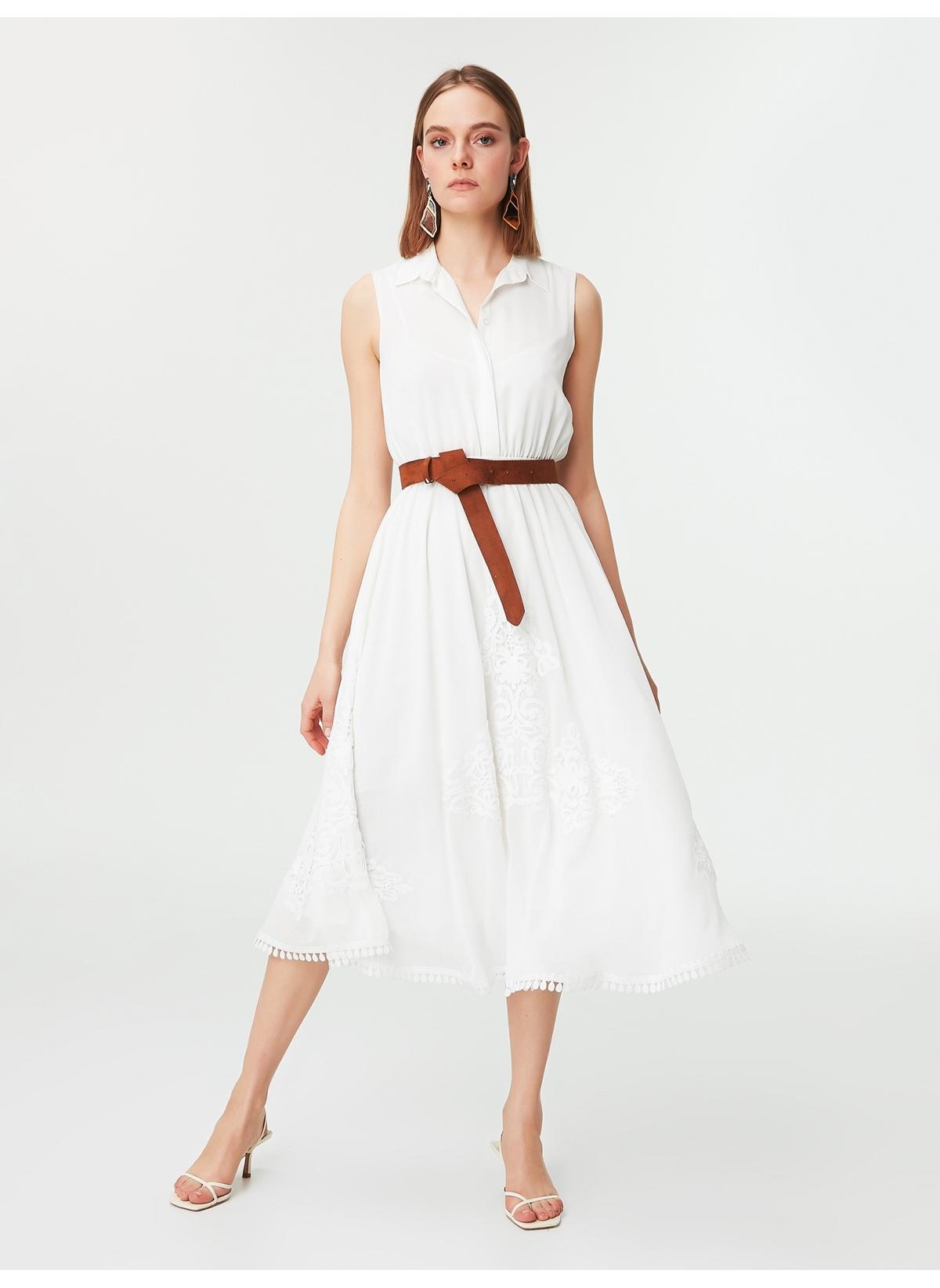 b58a516387d77 Ipekyol Kadın Elbise Beyaz - Glami.com.tr