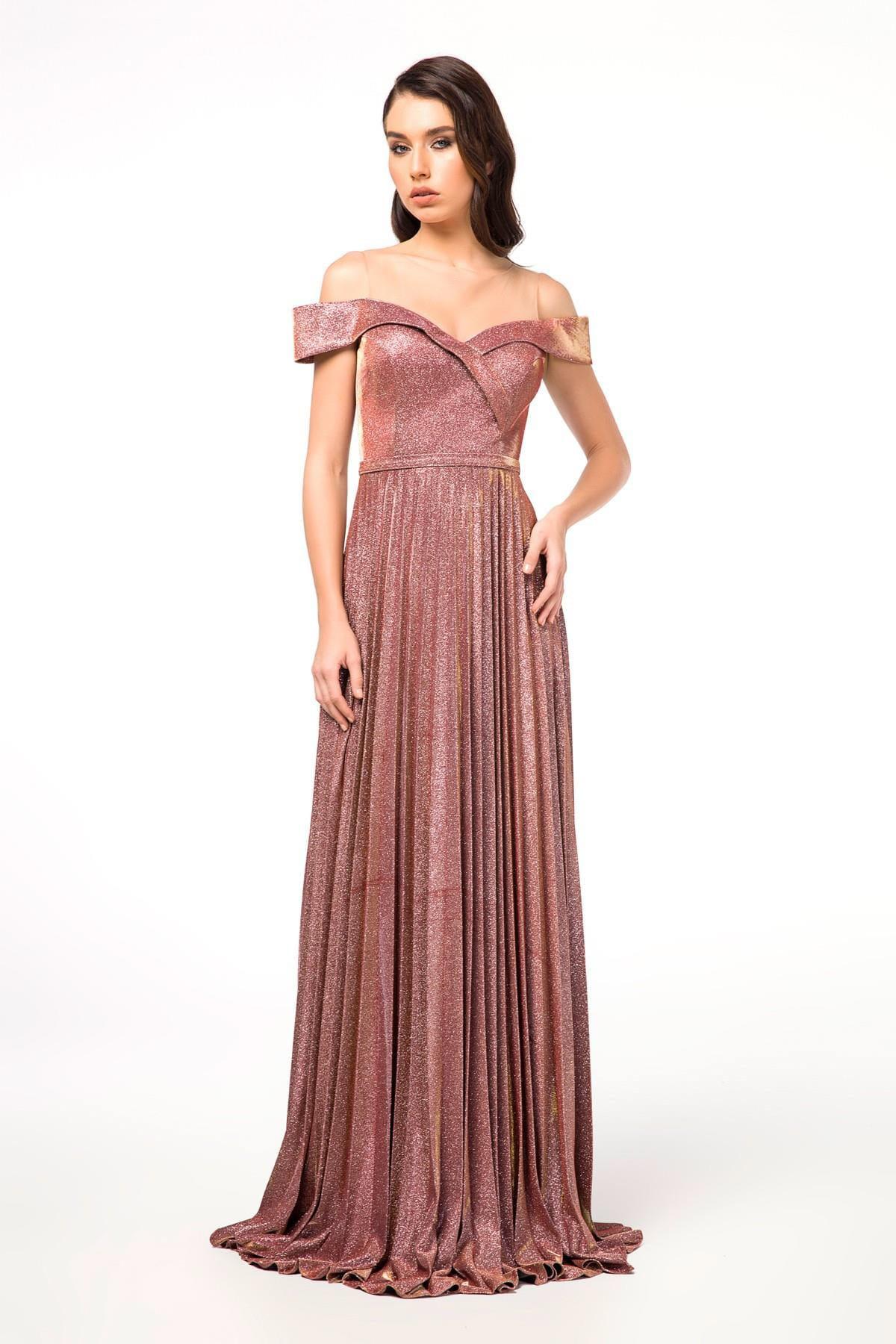 c788b77bd1519 Abiye Sarayı Kadın Bordo Renk Uzun Abiye Elbise WM149246 - Glami.com.tr