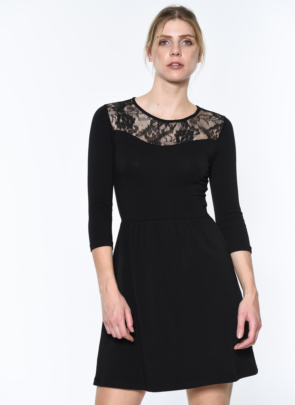 8be6fa46fef61 Only Kadın Elbise Siyah - Glami.com.tr