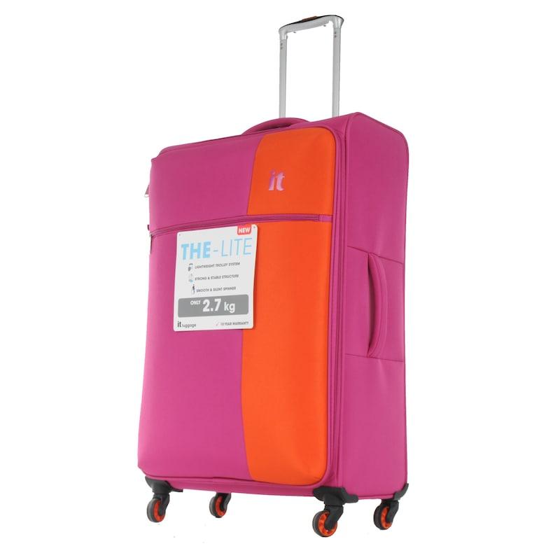 5af471287b4e4 IT Luggage Büyük Boy Kumaş Valiz Pembe 2152 - Glami.com.tr