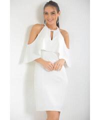 Size Özel Saygı Kadın Ekru Sırtı Açık Dantel Abiye Elbise S