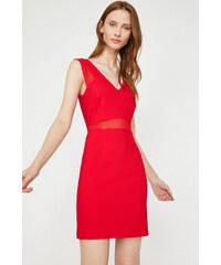 921d8e18c0b23 Koton Kadın Kırmızı V Yaka Mini Elbise 8YAK84310FW - Glami.com.tr