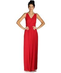 6ixty8ight Kadın Kırmızı Sırtı Tüllü Uzun Abiye Elbise