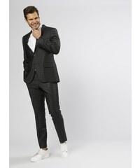 3e070b4d4d851 Beymen Business Desenli Yün Siyah Takım Elbise 46-6 5000211951006