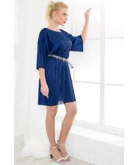 7e4b650d37e45 Trend: Alaçatı Stili Kadın Mavi Çizgili Keten Dokuma Elbise ALC-018 ...