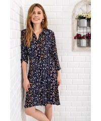 8b05669e9f52d Trend: Alaçatı Stili Kadın İndigo Yarasa Salaş Elbise FME-016-136-A ...