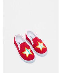 9eefe6b2cbe6f Koton Kids Kırmızı Kız Bebek Bağcıksız Ayakkabı - Glami.com.tr