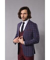 7392418dbb0c3 Wessi Erkek Ekose Yelekli Krem Renk Takım Elbise - Tk-62950-100-52 ...