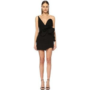 765abb0d8de34 Saint Laurent Kadın Siyah Straplez Volanlı Mini Abiye Yün Elbise 36 IT -  Glami.com.tr