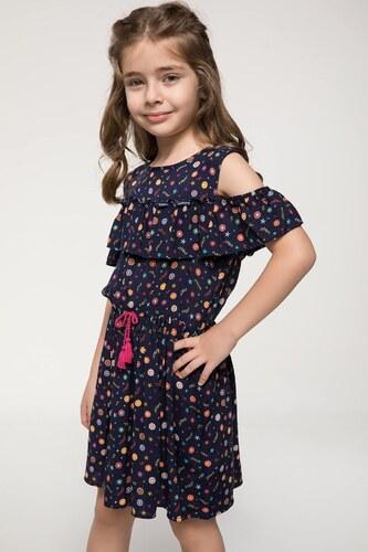 b2471a25d57ac DeFacto Kız Çocuk Baskılı Fırfır Detaylı Elbise - Glami.com.tr