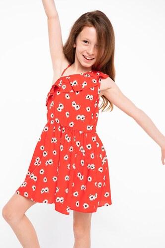 f1528cc827236 DeFacto Fırfır Detaylı Desenli Elbise - Glami.com.tr