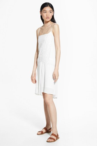 17aed5f914224 MANGO Woman Kadın Kırık Beyaz Elbise 43017535 - Glami.com.tr