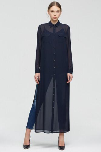 e441fc413a39e Perspective Kadın Koyu Mavi Elbise 71020998 - Glami.com.tr