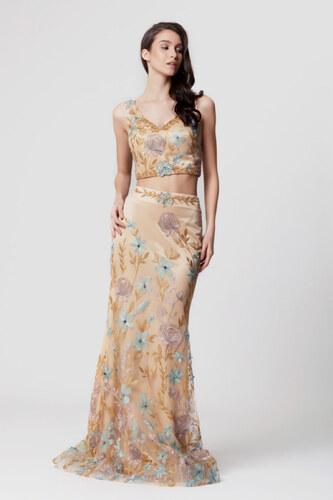 75a15807b335d Abiye Sarayı Kadın Mint İki Parça Çiçek İşlemeli Abiye Elbise LB1200 ...