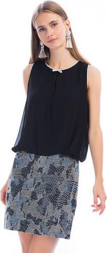 063a12e6040e5 Y-London Kadın Siyah Sim İşlemeli Abiye Mezuniyet Elbise EX-51985 ...