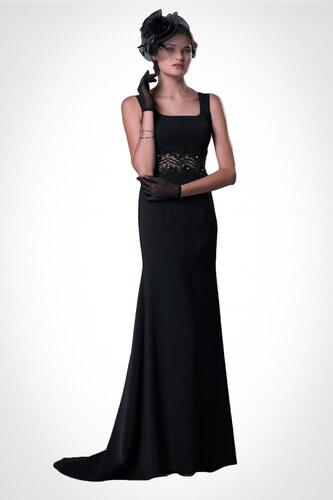 5b3e0812e7594 Pierre Cardin Kadın Siyah Pelerinli Taş İşlemeli Balık Abiye Elbise PC54161