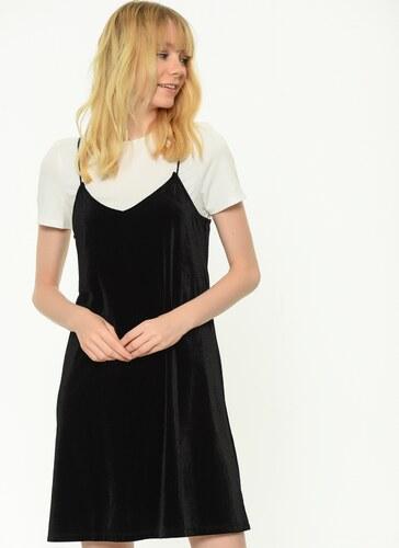 d0cbe8c354599 Only Kadın Kısa Kollu Elbise Siyah - Glami.com.tr