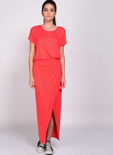 74c61064d3067 Limon Company Kadın Uzun Yırtmaçlı Elbise Kırmızı - Glami.com.tr