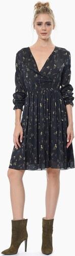 7b85df7efe0ad NetWork Kadın V Yaka Uzun Kollu Şifon Elbise Siyah - Glami.com.tr