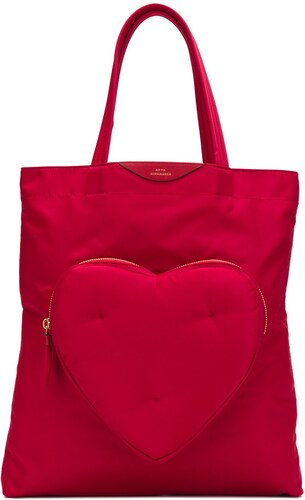 92d2f7ee21d32 Anya Hindmarch Heart Shopping Bag - Red - Glami.com.tr