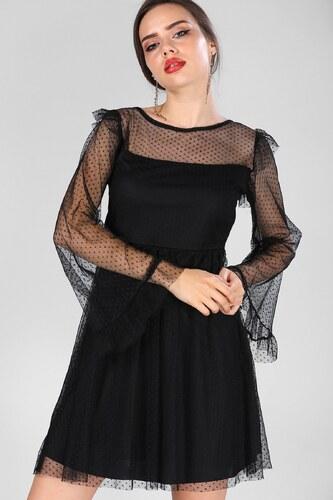 e5bdf7d5b5152 Patırtı Sırt Dekolteli Siyah Elbise - Glami.com.tr