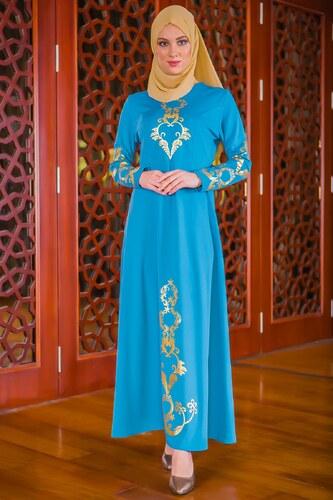 a8f1824a48914 Patırtı Dantel Detaylı Tesettür Abiye Elbise 20039 Mavi - Glami.com.tr