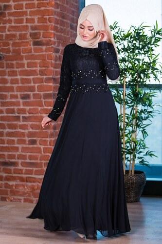 cddc61ef3a4a6 Patırtı Güpür Detaylı Tesettür Abiye Elbise Siyah 20041 - Glami.com.tr