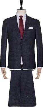 d41f7e278b886 Süvari Desenli Lacivert Slim Fit Takım Elbise - Glami.com.tr