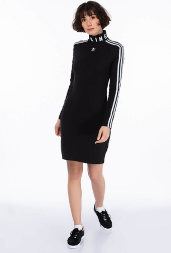 5ade172eb1348 adidas Kadın Elbise - Slim Ls Siyah Kadın Elbise - CY7485 - Glami.com.tr