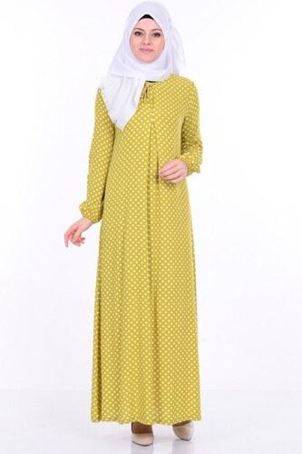 d540e6ddb9748 Sefamerve Bağcık Detaylı Elbise 1147-01 Yağ Yeşil - 38 - Glami.com.tr