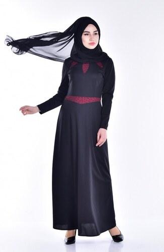 d12e59fb249e5 Sefamerve İnci Detaylı Elbise 8000-06 Siyah - 38 - Glami.com.tr