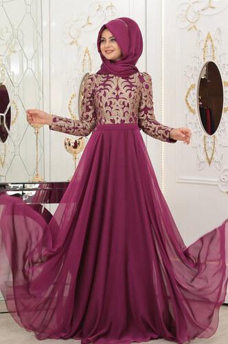 b782893f782f5 Pınar Şems - Ecrin Abiye - Fuşya - Glami.com.tr