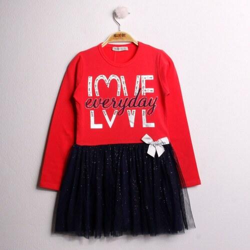 316bdfd916a12 Diğer Toontoy Kız Çocuk Elbise Love Varak Baskılı - Glami.com.tr