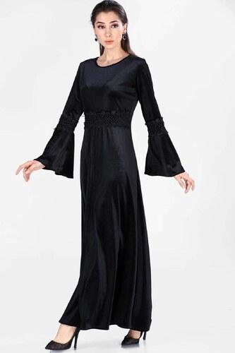 376a2561dda11 Patırtı Kadın Kollar Volanlı Kadife Elbise - Glami.com.tr