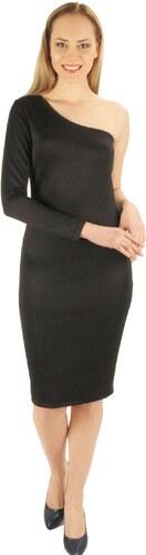 ddab519b77b52 Moda Royal Siyah omuz detaylı bayan elbise - Glami.com.tr
