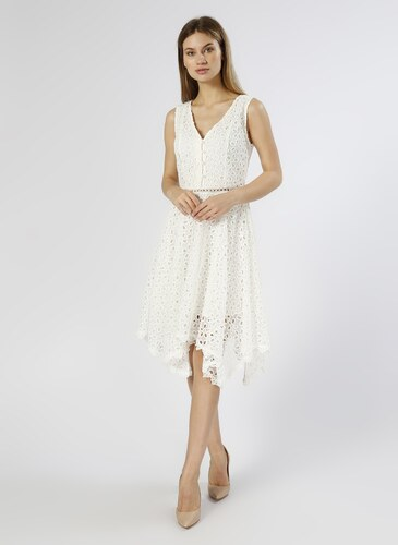 434ade2fc690d Network Güpürlü Beyaz Elbise 34 5000224699001 - Glami.com.tr