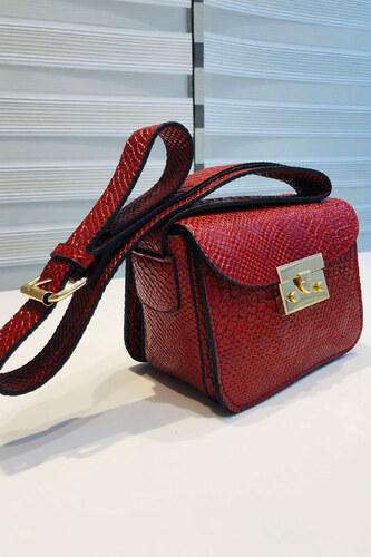 3624f25669a39 Patırtı Kadın Desenli Kırmızı Çanta - Glami.com.tr