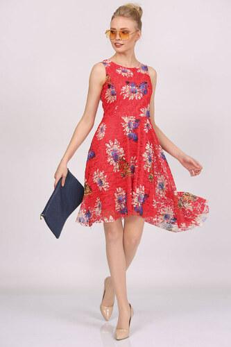 ea6536082ec3e Patırtı Kadın Oval Kesim Desenli Elbise - Glami.com.tr