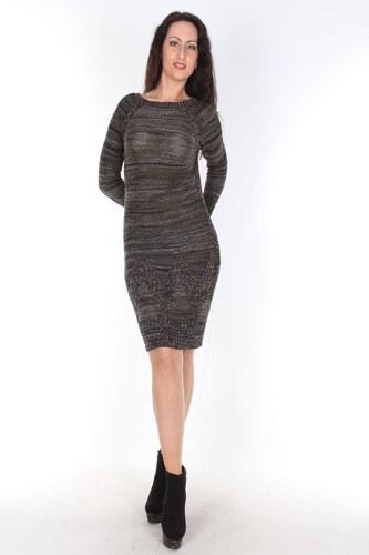 321db6f2c75cc Moda Royal Triko Elbise Haki Siyah Kırçıllı - Glami.com.tr