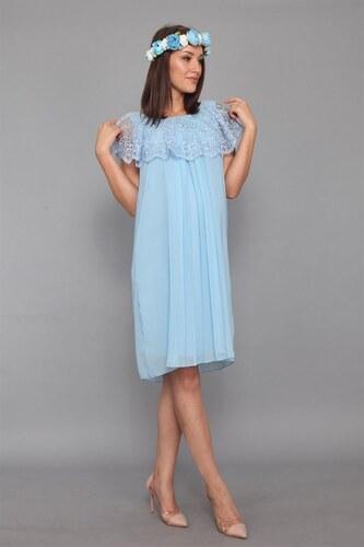 a030ca43ad9ef Labio Piliseli Bebe Mavi Elbise - Glami.com.tr