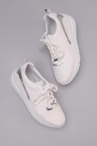 5715bb84a5e96 Bambi Beyaz Gümüş Kadın Sneaker H0603003009 - Glami.com.tr