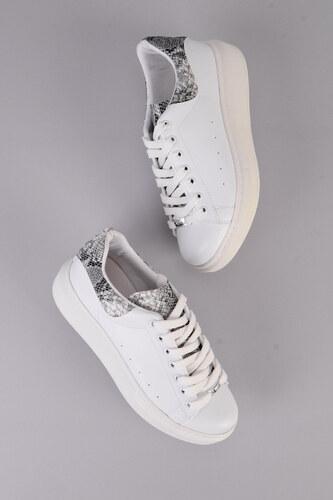 9104c7cf3f562 Bambi Beyaz Siyah Kadın Sneaker H0509303009 - Glami.com.tr