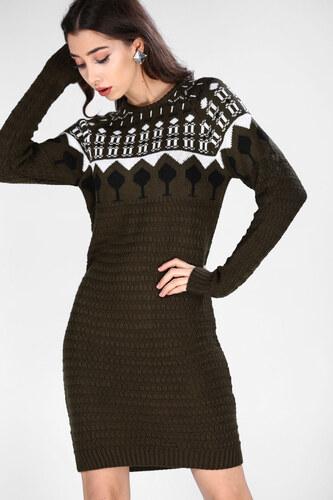ff3670e87e560 Patırtı Desenli Kadın Triko Elbise & Tunik - Glami.com.tr