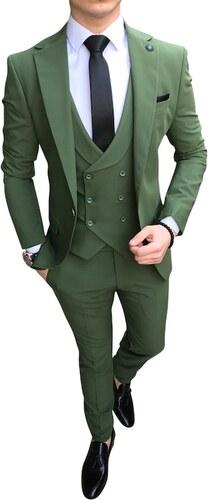 526c9d45c62d1 terzi_ademaltun İtalyan stil erkek ceket yelek pantolon yeşil takım elbise  T2259