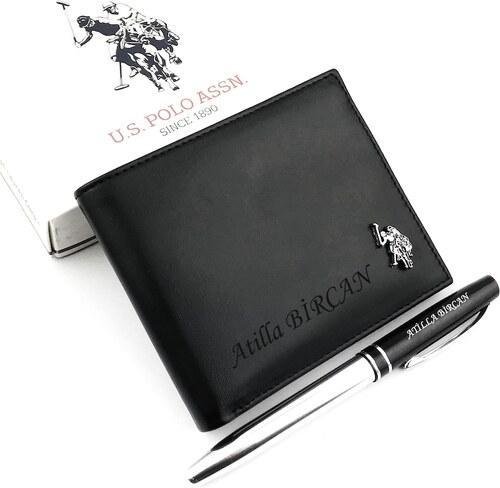 417cafcde3025 U.S. Polo Assn. İsme Özel U.S. Polo Hakiki Deri Erkek Cüzdanı + Kalem  HEDİYELİ