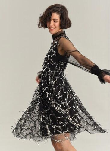 a757b6abab14e Agenda Kadın Sallantı Payetli Kısa Elbise Siyah - Glami.com.tr